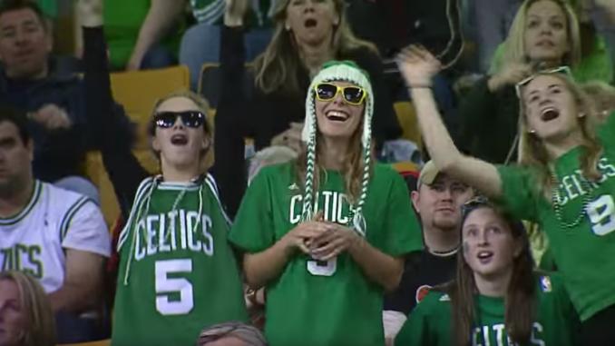 jeremy fry dancing nerd at celtics game