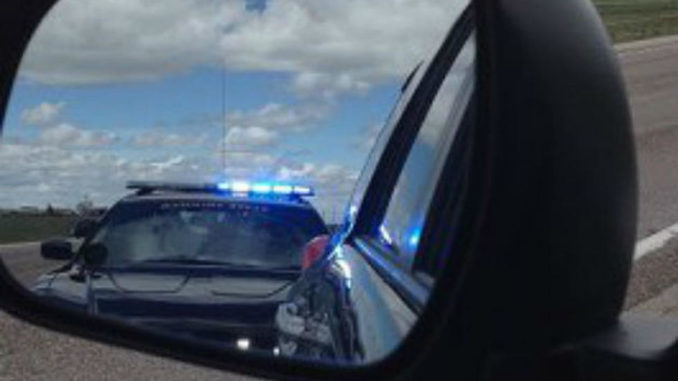 chp in rearview mirror